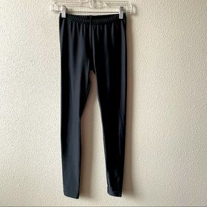 American Apparel Black Shiny Leggings Small